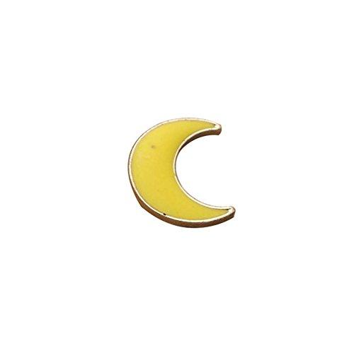 MJARTORIA Jungen Mädchen Anstecker Mond Stern Emaille Brosche Button Zugehör Kleidung Kragen Taschen