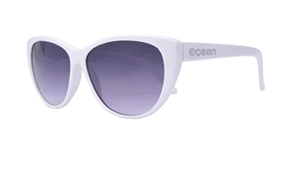 Ocean Sunglasses Espuma - lunettes de soleil polarisées - Monture : Blanc Laqué - Verres : Fumée (18210.3) Xno9lr