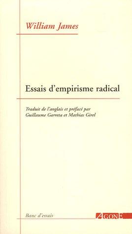 Essais d'empirisme radical par William James