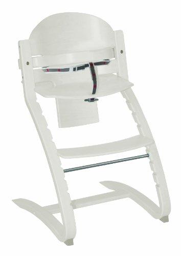 roba TreppenhochstuhI \'Move\', von Babyhochstuhl bis Jugendstuhl in Rückenlehne und Sitz flexibel verstellbarer Hochstuhl, Holz, weiß