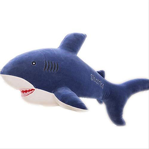 luludsoo Plüsch Spielzeug Tiere Gefüllt Kissen Spielzeug, Zimmer Dekoration Für Kinder Baby Paare, Pp Baumwolle Großen Weißen Hai 65 cm Dunkelblauer Hai