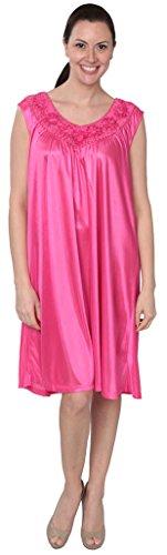 Beverly Rock Damen Nachthemd ärmellos - - 4X Mehr -