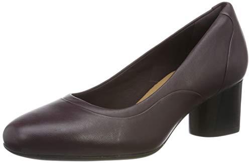 Clarks Damen Un Cosmo Step Pumps, Braun (Aubergine Lea), 35.5 EU -