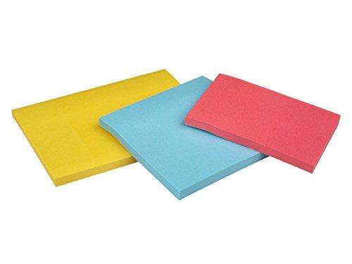 Post-It 3432SS3-BYP-EU - Pack de 3 blocs de notas adhesivas, 47,6 x 47,6 mm, multicolor (azul mediterráneo / amarillo neón)
