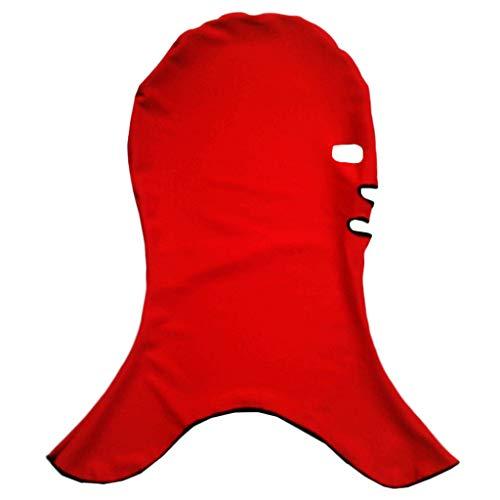 Bademütze Männer Maske Facekini Sunblock Sportler Tauchen Schnorcheln Badekappe Sonnenschutz UV-Schutz Herren Schwimmhaube Sport im Freien(rot,Free)