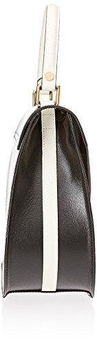 Braccialini Damen Alicia Shopper, 11x26x33 cm Mehrfarbig (Nero/avorio)