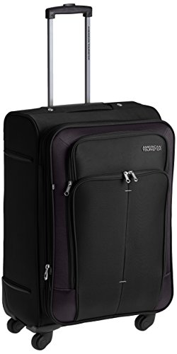 American Tourister Crete Polyester 67cms Black Softsided Suitcase (49W (0) 09 002)