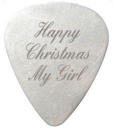Joyeux Noël My Girl médiator/Plectre–personnalisé gravé–Inclut Emballage cadeau