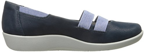 Clarks Cloudsteppers Sillian Riposo Mary Jane piatto Navy