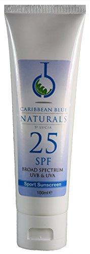 Natural Sunshield Sport - SPF25 (120ml) - Caribbean Blue Sunscreen (UVA & UVB protection)