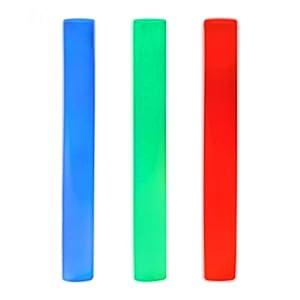 Relaxdays - Baqueta de Espuma, 3 ledes, Colores cambiantes, Color Rojo, Verde y Azul