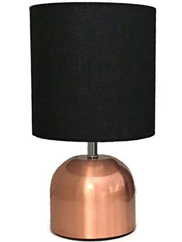 te Kupfer Schwarz Touch Funktion KLEIN Leuchte Stehlampe mit Schirm ca. cm Lampe Lampenschirm edel 17 (Tisch Lampe, Klein)