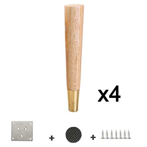 Reines Kupfer Massivholz Sofa Couchtisch Fuß/MöBelmatte Hohe Metall UnterstüTzung Beine