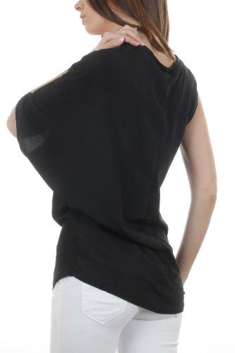 Go Tendance Damen T-Shirt Schwarz - Schwarz