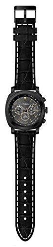 Lifemax Chronograph Style Atomic Talking Watch with Black Leather Best Price and Cheapest