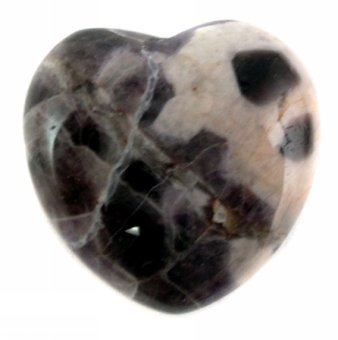 30mm Amethyst Puff Heart Healing Crystal by Something