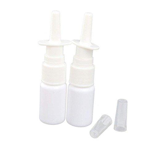 Ndier 10ml vuoto plastica nasale fine mist flacone spray pompa spruzzatore con cap-white