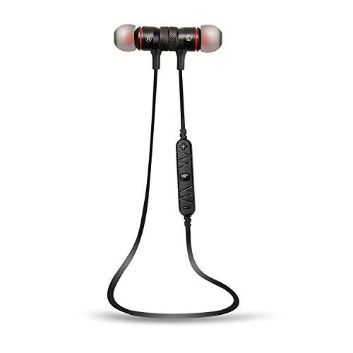 Dylan Auriculares Deportivos Bluetooth 4.1 Magnéticos,In-ear Estéreo para Deportista, Casco Inalámbrico Manos Libres, Emparejado con 2 Bluetooth-Dispositivo y Wireless Headphone Bluetooth para Iphone Smartphone con Función de Emisión de Voz Transmisión(Negro)