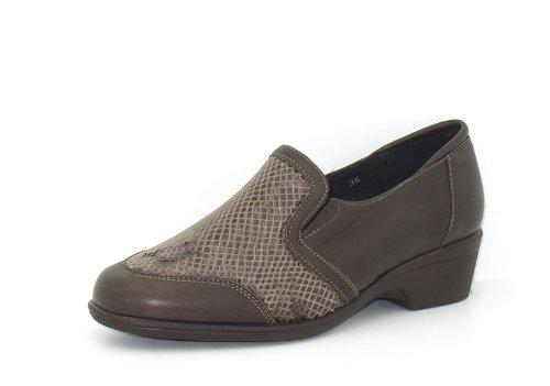 Piesanto Modèle 3614 - Confortable chaussures en cuir pour femmes Caoba