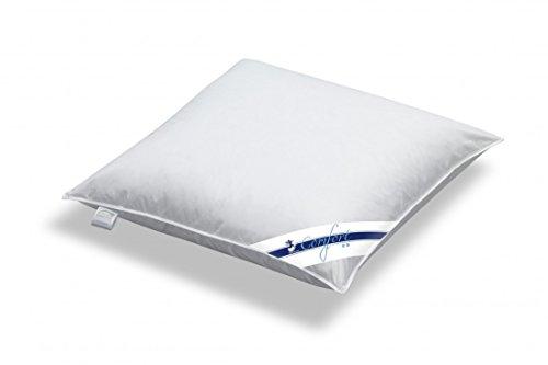 Kopfkissen Spessarttraum 80 x 80 / 1000 g - Kissen Comfort - Füllung 15% Daunen und 85% Federn - Bezug 100% Baumwolle thumbnail