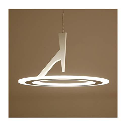 *Modern pendant light Modernes minimalistisches kreatives rundes Acrylleuchter-Hauptlager-hängendes Licht des kandel-LED Haushalts Kronleuchter (Farbe : Weißes Licht)