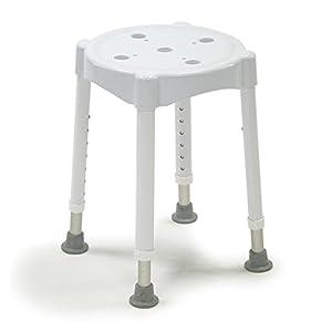 Dietz 4113 Duschhocker Redondo Sitzhöhe 7-fach verstellbar maximale Belastung, weiß