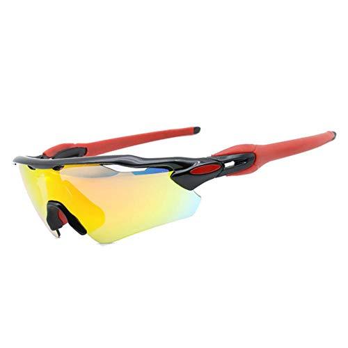 BeneU Polarisierte Sport-Sonnenbrille, UV 400-Schutz, Unzerbrechliche Sportbrille Mit 4 Wechselgläsern, Sport-Augenschutzbrille Für Damen Und Herren Beim Laufen, Radfahren, Angeln, Golf