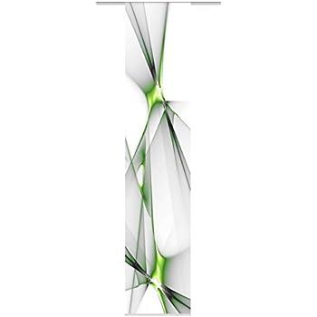 Motivo Decorativo a Foglia 3 Pezzi 245 x 60 cm Colore: Verde Home fashion Brest 88512-168 Tenda a Pannello con Stampa Digitale