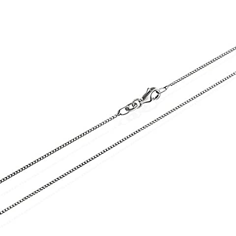 Nklaus Genuine 925Solid Sterling Silver Rhodium Plated Curb Chain Necklace