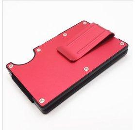 LaDicha RFID Sperrung Metal Wallet Slim Minimalist Kreditkartehalter Money Clip-Schwarz