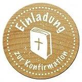 Woodies Stempel, Einladung zur Konfirmation, Ø 30 mm
