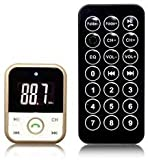 #6: SHOPLINE BT67 Wireless Car Bluetooth FM Transmitter Handsfree Car Kit with USB Charging Port for iPhone Android Smartphone and Remote Control, SD Card Slot. #12