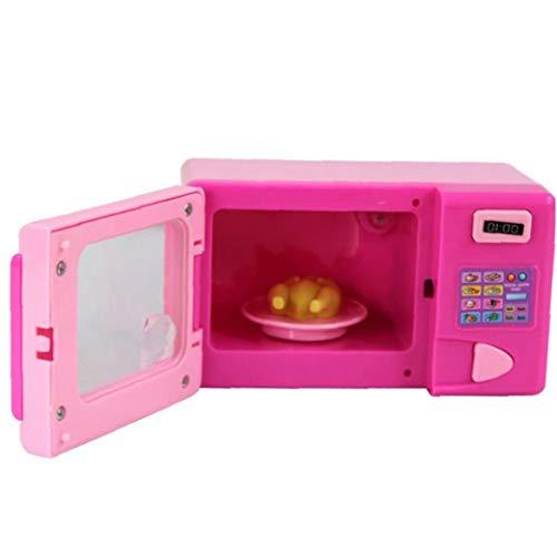 1pcs Niños Juego De Imaginación Juguetes Mini Lindo Simulado Del Horno Microondas Del Aparato Electrodoméstico De Juguetes Educativos Para Niños