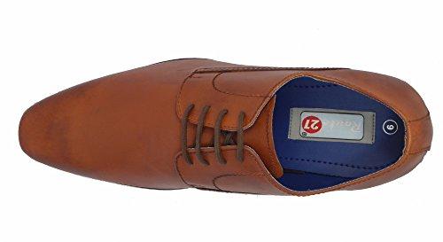 Route 21 , Chaussure Gibson à lacets homme peau