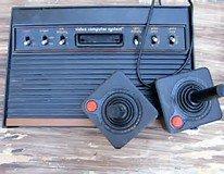 "Atari Video Computer System Console "" Black Woody "" GENUINE 1980'S RETRO MODEL UNBOXED"