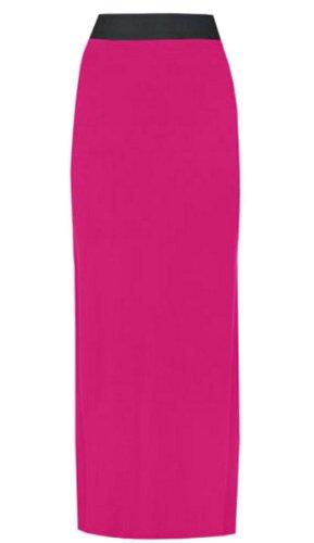 Frauen Plus Größe Lange Jersey Boho Maxiröcke 36-54 Cerise