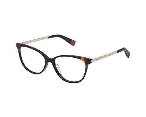 Furla Brillen Damen VFU134 Cateye, 53 (glänzend schwarz)