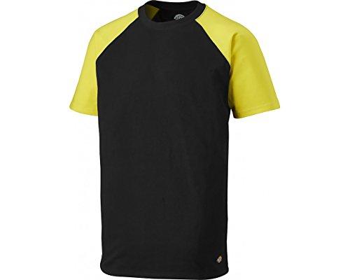 Dickies T-Shirt Two Tone SH2007, Größen, optimale Passform, Passend zur Everyday 24/7 Kollektion 2017 (L, Schwarz/Gelb)