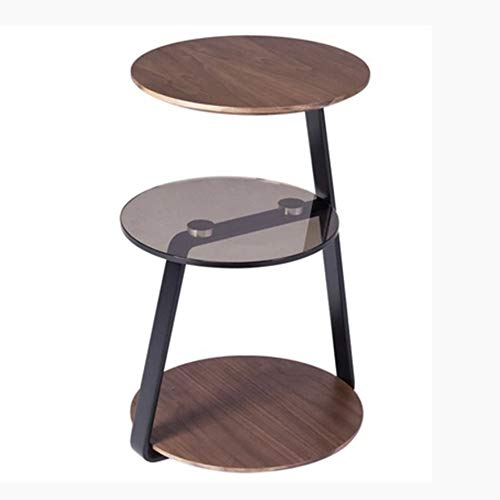 NAN 3. Stock - Nesting Tables Couchtisch Set Beistelltische Holz Mit Metall Beinen, Dunkelbraun (Holz Nesting Tables)