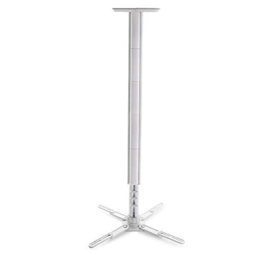 Moman Beamer Halterung Projektor Deckenhalterung 360° Drehbar Belastbarkeit 10kg Ausziehbar Deckenabstand 55-100cm Höhenverstellbar Weiß