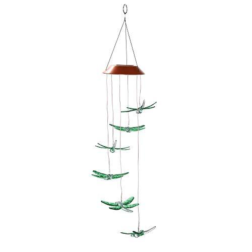 Womdee Solar Lichterketten, LED Solar Butterfly Windspiele Outdoor - Wasserdicht Solarbetriebene Farben, die Licht ändern Schmetterlinge Romantische Windglocke für Zuhause, Party, Festival-Dekor