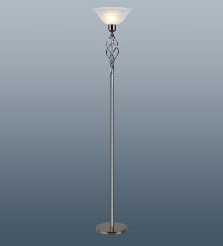 Traditional Floor Standard Lamp Gun Metal With Marble Swirl Glass
