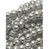 Beadsnfashion Jewellery Making Metal Hammered Round Beads Silver 4 Mm, Pack Of 50 Grams