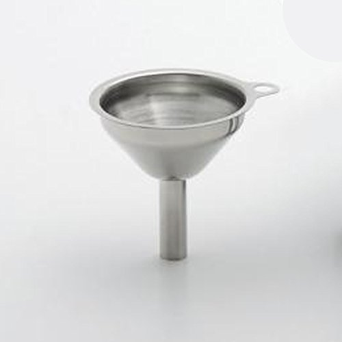 Mini-Trichter, Edelstahl, oben ca. 5 cm, unten ca. 1 cm
