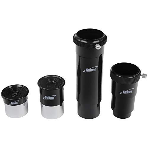 Seben Okular 4mm + 20mm + Umkehrlinse + Barlowlinse 1,25