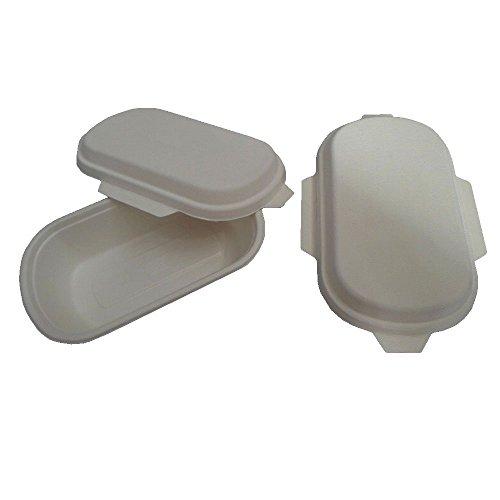PZ 50 bacs thermiques CC 1000 biologiques pour aliments en carton en pulpe de cellulose