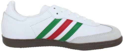 adidas Originals Samba, Scarpe da Ginnastica Uomo Bianco (Weiss (WHITE / FAIRWAY / LIGHT SCARLET))