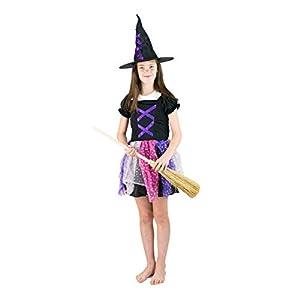 Bodysocks® Disfraz de Bruja niña (4-6 años)