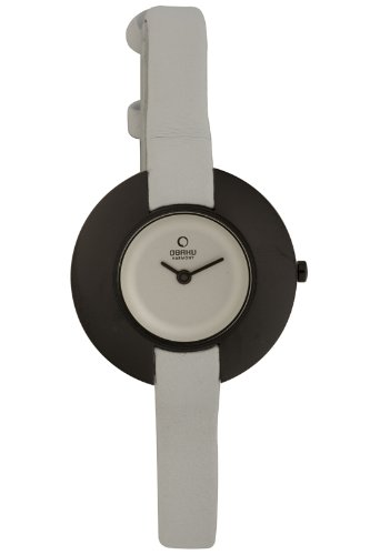 Obaku Harmony - V135L BIRW - Montre Femme - Quartz - Analogique - Bracelet cuir Blanc