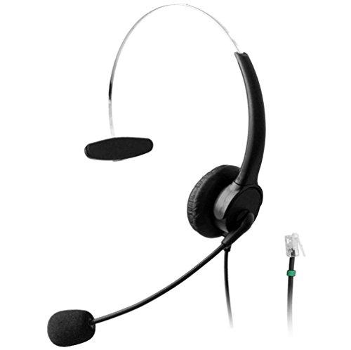 Wantek Telefon Headset Wired mit Flexible Noise Cancelling Mikrofon für Aastra Shoretel Nortel Cisco E20 Polycom Digium Altigen Comdial & Starleaf Büro IP Telefone(510P3A) -